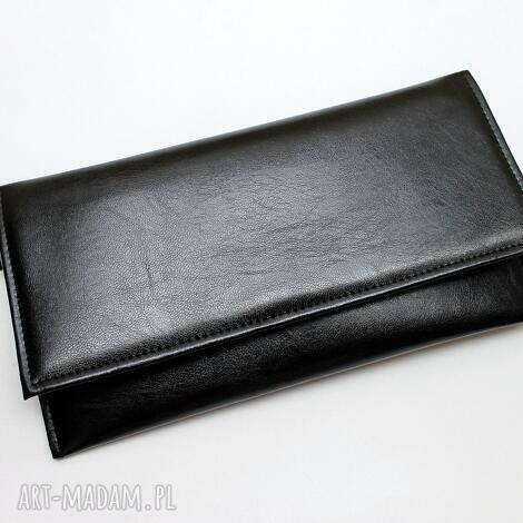 803f75e7a0383 Kopertówki czarny handmade. Kopertówka czarna czarna