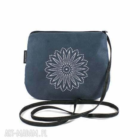mini wyszywana minitorebka steel, torebka, mini, haft, wyszywana, zamsz torebki