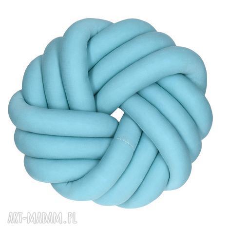 ręcznie pleciona dekoracyjna poduszka supeŁ swirl knotpillow 30x30 - knotpillow