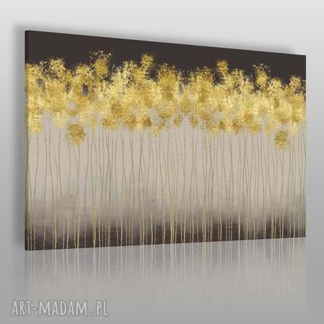 obraz na płótnie - abstrakcja złoty 120x80 cm 69501, abstrakcja, elegancki