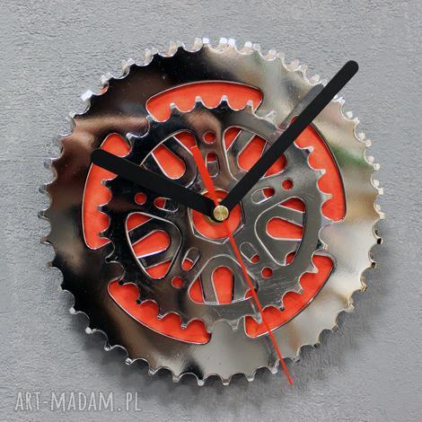 bikes bazaar zegar bmx, rowerowy, metalowy, stalowy, srebrny, mały, prezent