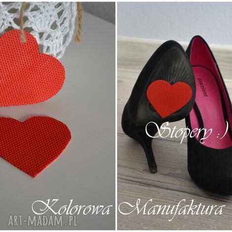 stopery antypoślizgowe ślub, buty, czerwone, serce