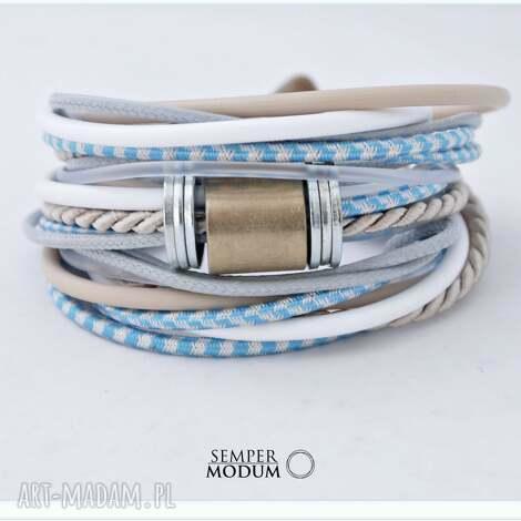 trio mono n, bransoletka, naszyjnik, sznurki