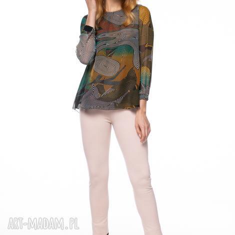 bluzka dubravka, szyfonowa, wzorzysta, oryginalna, cienka, jesienna, stylowa