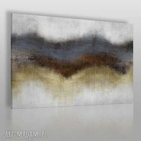 obraz na płótnie - abstrakcja złoty 120x80 cm 63801, abstrakcja, nowoczesny