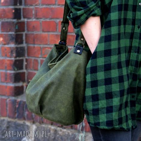 mini sak vege zieleń - torba, worek torebka wiosna boho, hippie