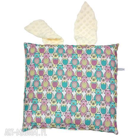 poduszka jasiek z uszami - poduszka, jasiek, uszy, niemowle, dziecko, bawełna