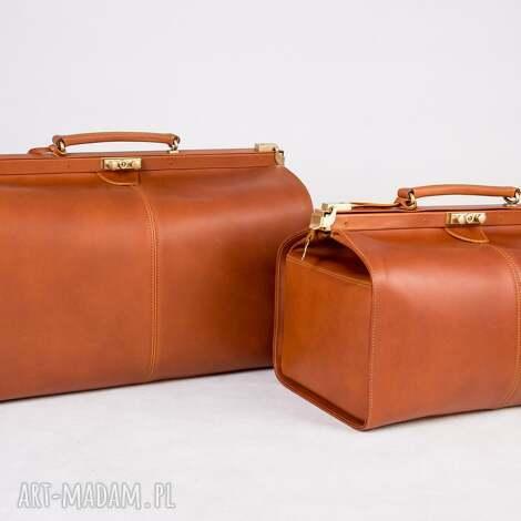 skórzany kufer podróżny/ torba lekarska duża, kufer, skórzanatorba, lekarka, skóra