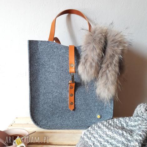 na ramię feltbag #100, torba, filcowa, prezent, skora, torebka, klasyczna torebki