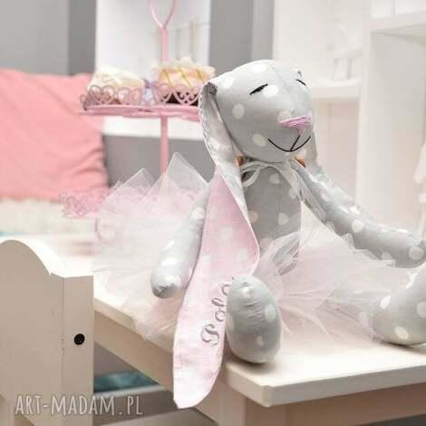 króliczek baletnica - baletnica, krolik, tilda, tancerka, chrzciny, urodziny