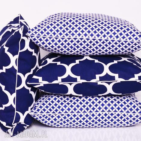 poduszki komplet 4 poduszek ozdobnych marokańskich 40x40cm od majunto