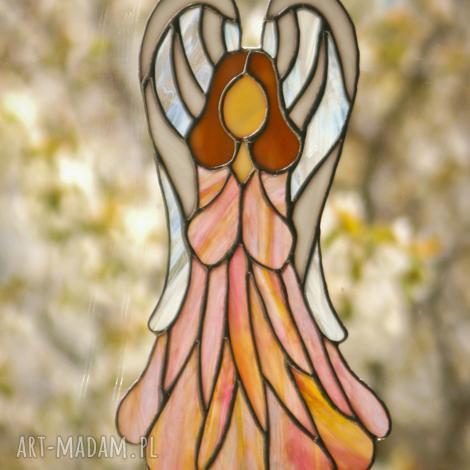 witraże anioł róż witrażowy, anioł, witraż, ślub, chrzest, komunia dom