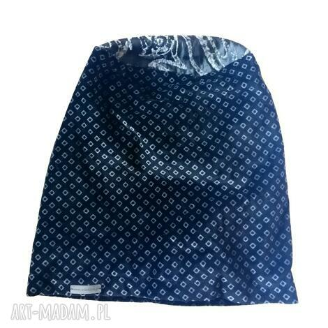 czapka damska aksamitna szaro czarna boho aksamit etno, folk, kolorowa