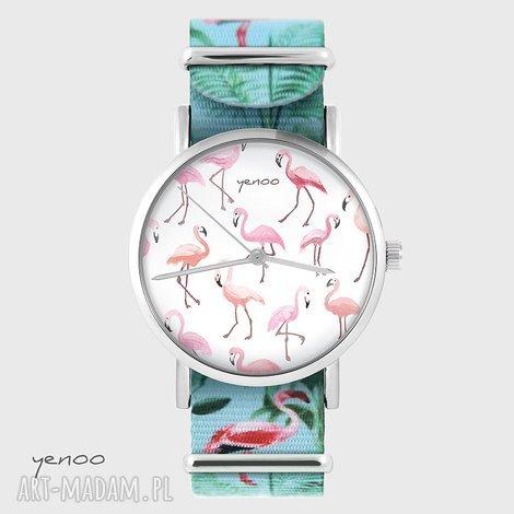 zegarek - flamingi flamingi, nato, zegarek, bransoletka, flaming