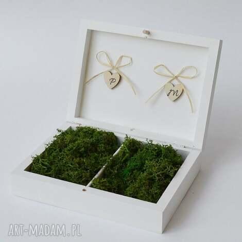 pudełko na obrączki ślubne rustykalne, ślub, pudelko obrączki, wesele