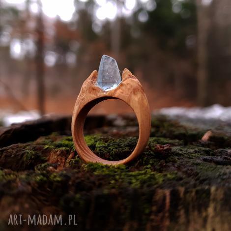 drewniany pierścień lączony z żywicą druids ring - folk, drewno