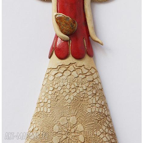 ceramika anioł z torebką, anioł, dom