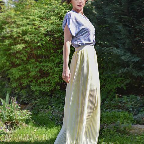 ye-lo spódnica plisowana, maxi, żółta, ecru, długa, zwiewna