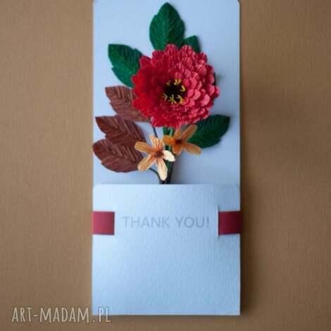 karteczki 3d na podziękowania - podziękować, karteczki, 3d, papierowe, kwiaty
