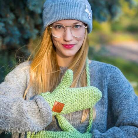 rękawiczki guacamole rękawiczki akrylowe, na drutach, ciepłe