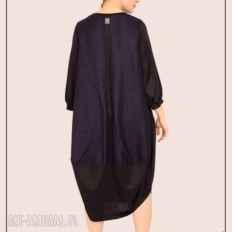 minimalistyczna sukienka oversize m, przecena, wyprzedaż, minimalizm, lużna, maksi