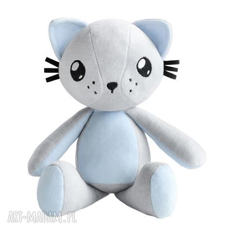 maskotki kot przytulanka poofy cat plushee szaro-błękitny, kot, kotek