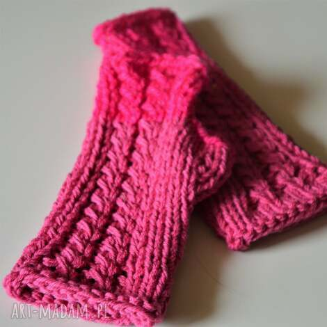 rękawiczki mitenki - rękawiczki, mitenki, na-dłonie, na-jesień, na-drutach