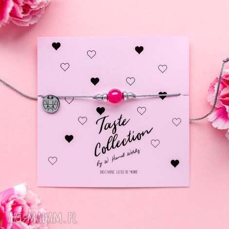 whw taste pink agate, sznurkowa, sznureczkowa, delikatna, makrama, agat