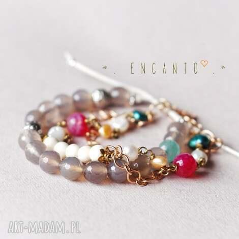 india, kamienie, naturalne, agat, howlit, perły bransoletki, unikalne prezenty