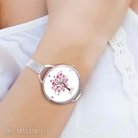 zegarki zegarek, bransoletka - drzewo miłości serce, bransoletka, serce