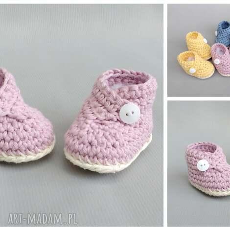 buciki zamówienie p michaliny, buciki, niemowlę, dziecko, narodziny, bawełna, prezent