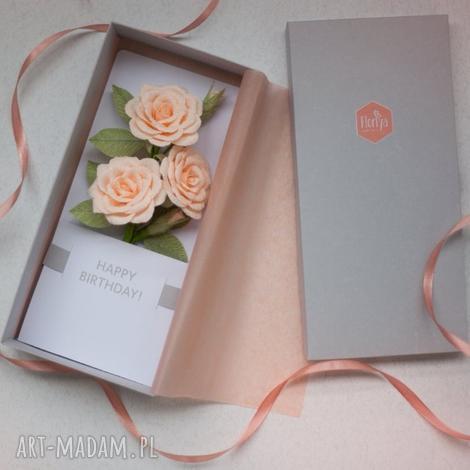 Mira flowers93: karteczki 3d na prezent., urodziny, super, oryginałny, pudełko