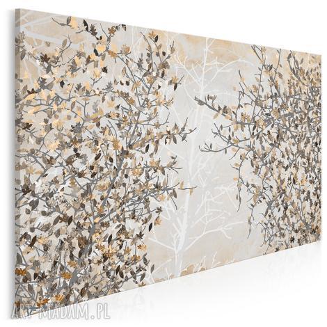 obraz na płótnie - jesienne liście 120x80 cm 23002, liście, drzewo, gałęzie