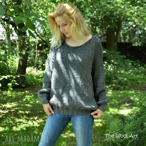 big sweter, wełniany-sweter, wełniany, na-drutach, ubrania