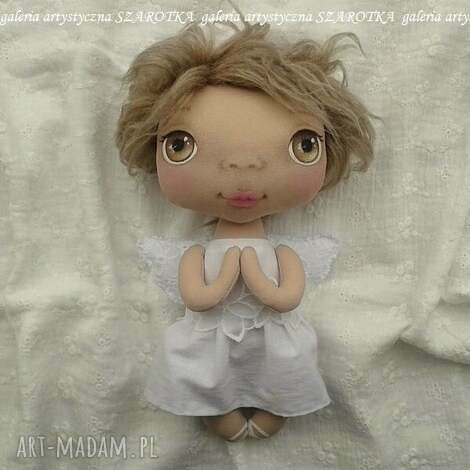 aniołek lalka - dekoracja tekstylna, ooak, aniołek, na komunię