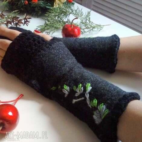 rękawiczki mitenki - rękawiczki, mitenki, wełniane, na prezent, na dłonie