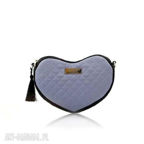 torebka lovka 117 - pikowana, serce, elegancka, torebka