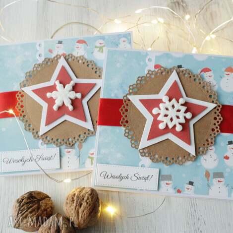komplet 2 kartek na boże narodzenie - kartka, xmas, święta, prezent
