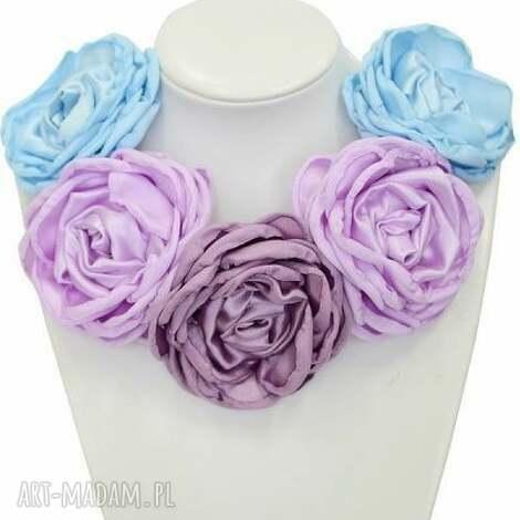 kwiatowa kolia - model 09 - pastele - broszki, naszyjnik