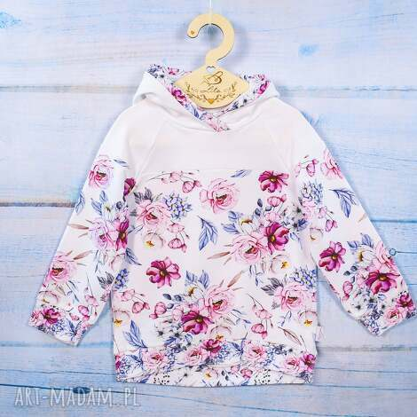 lilla bluza z kapturem lila, kapturem, dla dziewczynki, wygodna