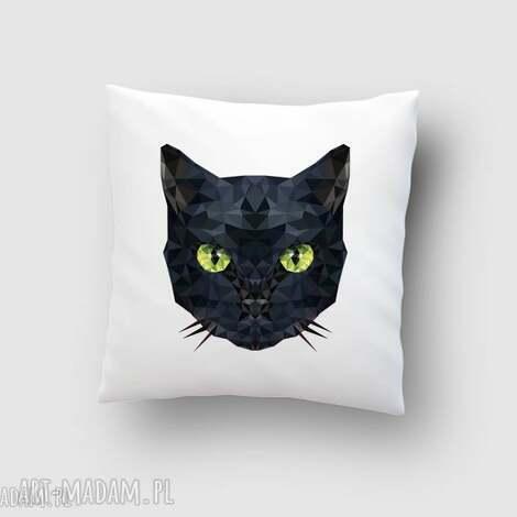 poduszka z kotem, kot, poduszka, poszewka, grafika, dom, kotek