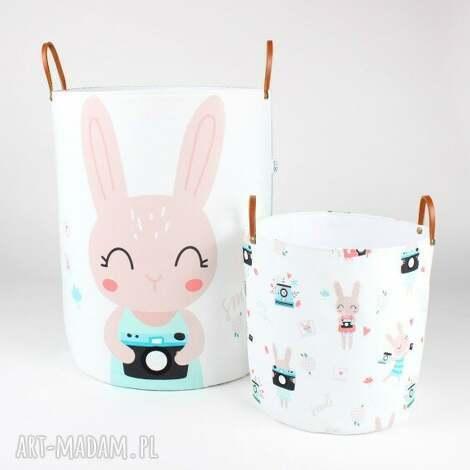 komplet dwÓch pojemnikÓw w krÓliki - pojemnik, królik, prezent