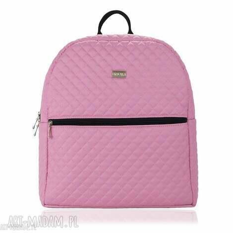 plecak damski 651 pudrowy róż, plecak, damski, lekki, pakowny, wygodny plecaki