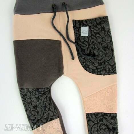 patch pants - eco dresik dziecięcy pudrowy róż, spodnie, dres, prezent, komplet