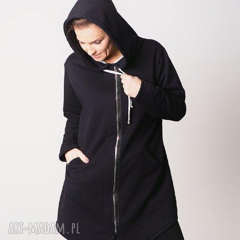 644ad8e3a bluzy bluza damska na zamek czarna, bluzy, sukienki, t shirty, bluzki,