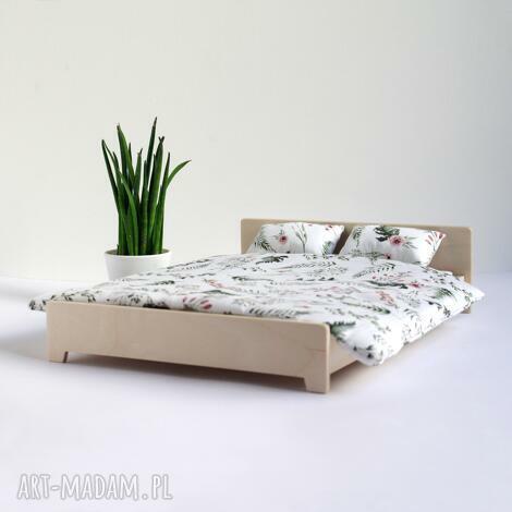 łóżko podwójne dla lalek wykonane ze sklejki (łóżko dla lalek)