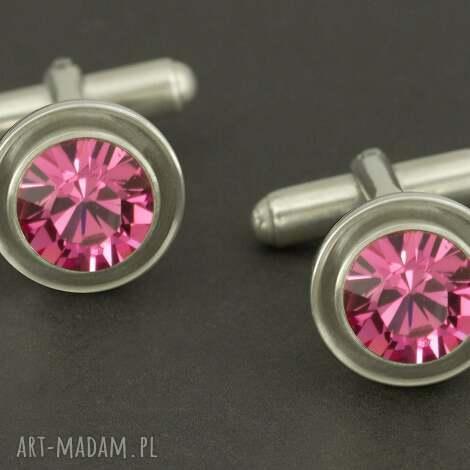 luksusowe spinki do mankietów różowe lukato - mężczyzna, mezczyzna
