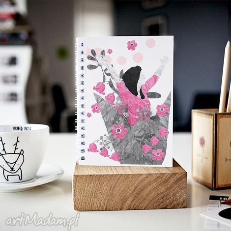 notesy eksplozja kwiatów - notes a5, notes, zeszyt, skoroszyt, gładki, kobiecy
