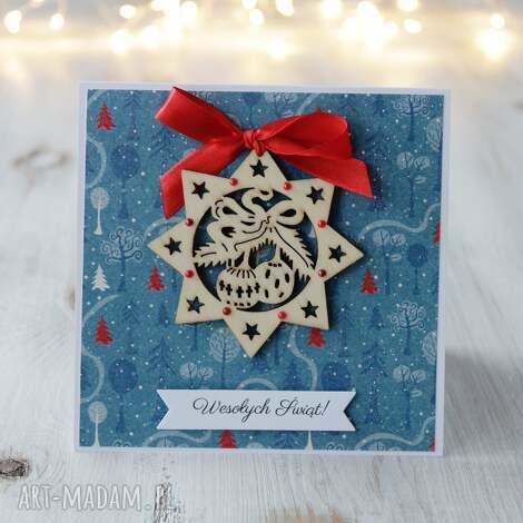 Po Godzinach: kartka świąteczna z gwiazdką, prezent, święta, boże narodzenie