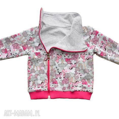 safari zwierzątka, dwustronna bluza, bluza dla dziewczynki, ciepła